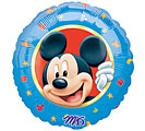 Mickey in blauwe ballon